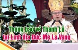 Trực tuyến: Thánh lễ tại Linh địa Đức Mẹ La Vang cầu cho chấm dứt đại dịch