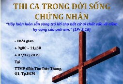 SH chuyên đề: Thi ca trong đời sống chứng nhân (7.12.2019)