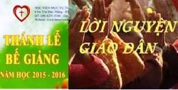 Lời nguyện tín hữu Thánh lễ bế giảng NK 2015-2016