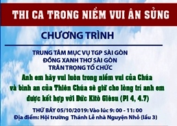 Sinh hoạt chuyên đề (5.10.2019): Thi ca trong Niềm Vui Ân Sủng