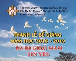 Học viện Mục vụ: Thánh lễ bế giảng năm học (24.5.2019)