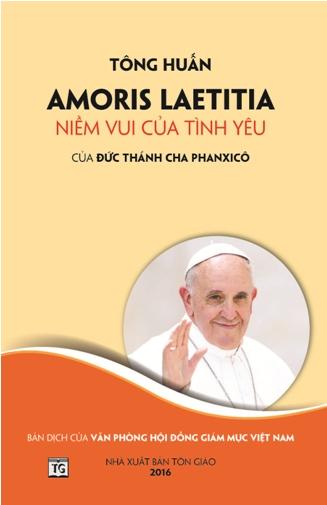 Thông báo phát hành sách Tông huấn Amoris Laetitia - Niềm vui của tình yêu