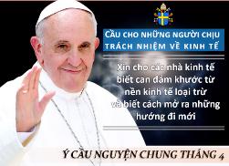 Ý cầu nguyện của ĐGH tháng 4/2018