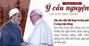 Ý cầu nguyện tháng 11/2019 của ĐGH: Đối thoại và hòa giải ở Cận Đông