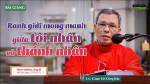 Ranh giới mong manh giữa tội nhân và thánh nhân - Lm. Giuse Bùi Công Trác