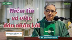 Niềm tin và việc đón nhận Lời - Lm. Phêrô Nguyễn Văn Hiền