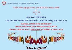 TTMV: Buổi cầu nguyện cho các Kitô hữu hiệp nhất (27/1)