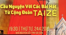 Cầu nguyện với bài hát Taizé (24.4.2019)