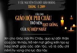Ý cầu nguyện tháng 5/2019: cầu cho GH tại Phi châu