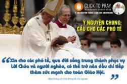 Ý cầu nguyện tháng 5/2020 : Cầu cho các Phó tế