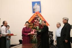 Chủ tịch Quốc hội chúc mừng Giáng sinh tại TGP Sài Gòn