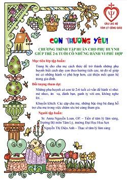 Chương trình tập huấn cho phụ huynh, giúp trẻ từ 2-6 tuổi có hành vi phù hợp