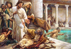 Daily Meditation: ``Jesus saw him, and since he knew how long this man had been lying there...``