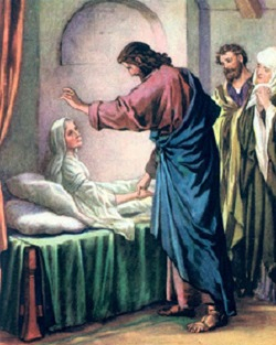 Daily Meditation: ``Laying his hands on each one, He healed them...``
