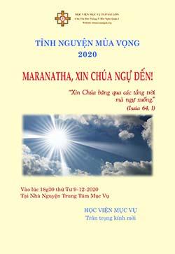 Tĩnh nguyện Mùa Vọng  2020: ``Maranatha, xin Chúa ngự đến!``