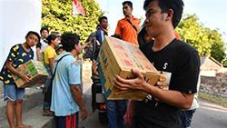 Caritas Indonesia trợ giúp nạn nhân động đất