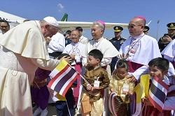 Đức Giáo hoàng Phanxicô đến Thái Lan và Nhật Bản để thăng tiến sự sống và hòa bình