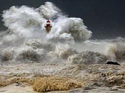 Giữa vùng tâm bão