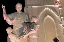 Thượng tượng Thánh Giáo Hoàng Gioan Phaolô II tại TTMV TGP SG