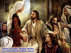 Daily Meditation: ``Martha, Martha, you worry and are troubled about  many things...``