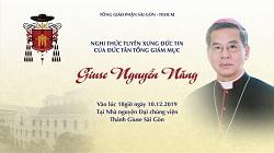 Trực tuyến: Nghi thức tuyên xưng đức tin của Đức Tân Tổng Giám mục Giuse Nguyễn Năng