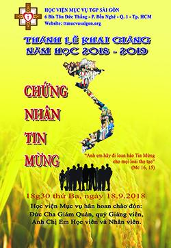 Lời nguyện tín hữu Thánh lễ khai giảng NK 20180-2019
