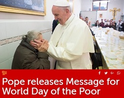 Sứ điệp ĐTC Phanxicô Ngày Thế giới Người nghèo lần II (18.11.2018)