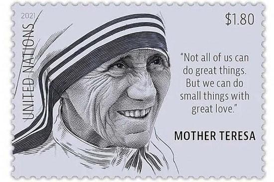 Liên Hợp Quốc tôn vinh Mẹ Têrêsa nơi một con tem bưu chính