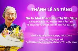 Trực tuyến: Thánh lễ An táng Nữ tu Mai Thành Bùi Thị Như Kha