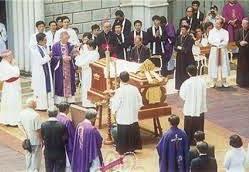 Lễ tang Đức TGM Phaolô Phaolô Nguyễn Văn Bình (7/1995)