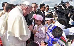 Đức Giáo hoàng Phanxicô đến Myanmar (27.11.2017)