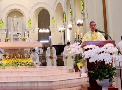 Nhà thờ Chánh tòa Sài Gòn: Thánh lễ Giao thừa (11.2.2021)