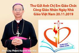 Thư gửi giáo chức Công giáo nhân Ngày Nhà giáo 2020