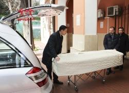 Đưa thi hài Đức TGM Phaolô ra phi trường Fiumicino (13.3.2018)