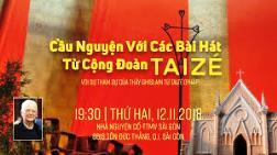 TTMV: Cầu nguyện với các bài hát từ cộng đoàn Taizé (12.11.2018)