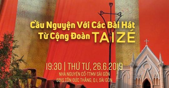 TTMV: Cầu nguyện với các bài hát từ cộng đoàn Taizé  (26.6.2019)